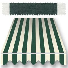 Recacril Classic Stripes Forest Green 47 inch R-830 Awning and Marine Fabric