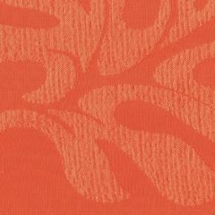 Tempotest Molto Bene 859/19 Orange Leaf Pattern Indoor-Outdoor Upholstery Fabric