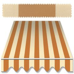 Recacril Classic Stripes Tan/Beige 47 inch R-630 Awning and Marine Fabric