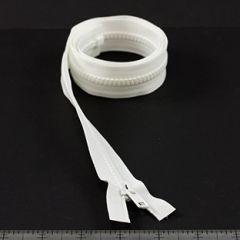 YKK Vislon #5 Separating Zipper AutoLok Short Single Pull Metal Slider VSOL56 36 inch White