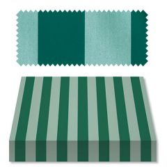 Recacril Classic Stripes Green/Light Green 47 inch R-144 Awning and Marine Fabric