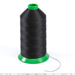 A&E Poly Nu Bond Twisted Non-Wick Polyester Thread Right Twist Size 138 Black