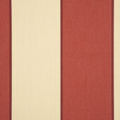 Dickson Orchestra Stripes Sienne Red / Linen 8211 Awning Fabric