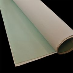 By the Sheet (3 sheets) Regalite Pressed Polished Clear Vinyl 40 gauge x 54 inches x 110 inches Green