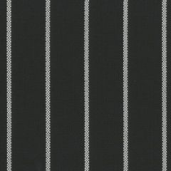 Tempotest Molto Bene 917 Black/White Thin Stripe Indoor-Outdoor Upholstery Fabric