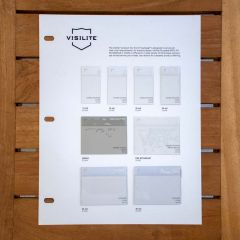 Visilite Clear Vinyl Sample Card - Vinyl Swatches