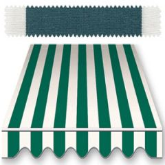 Recacril Classic Stripes Green/White 47 inch R-014 Awning and Marine Fabric