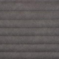Causeway Dark Grey Roll-n-Pleat Marine Upholstery Fabric