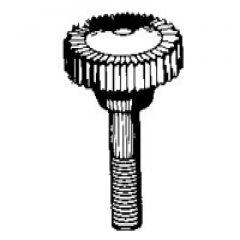 Patio Lane Knurl Screw #7424P Nylon 1/4 inch-20 x 7/8 inch Black