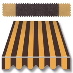Recacril Classic Stripes Black/Gold 47 inch R-058 Awning and Marine Fabric