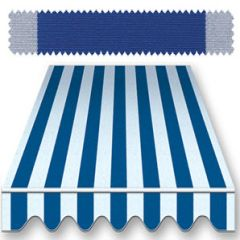 Recacril Classic Stripes Blue/Light Blue 47 inch R-166 Awning and Marine Fabric