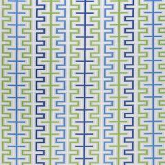 Sunbrella Thibaut Zipper Marine Blue and Kiwi W80334 Calypso Collection Upholstery Fabric